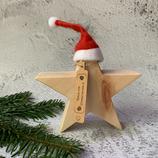 Weihnachtsstern aus Massivholz, 15cm - Zirbenholz #2