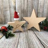 Weihnachtsstern-Set aus Massivholz (Ahorn, Eiche, Zirbenholz) 15cm und 20cm