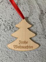 """Geschenkanhänger Ahorn - Frohe Weihnachten """"Christbaum 3"""""""