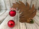 """Weihnachtsdeko Christbaum """"Krummer Hund"""" Größe M aus Holz"""
