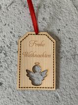 """Geschenkanhänger Ahorn - Frohe Weihnachten """"Engel 2"""""""