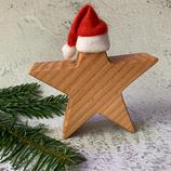 Weihnachtsstern aus Massivholz, 15cm - Douglasie #1