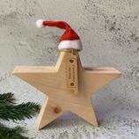 Weihnachtsstern aus Massivholz, 20cm - Zirbenholz #1