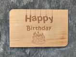 "Geburtstagskarte aus Echtholz ""Happy Birthday"" - 3"