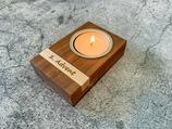 Mini Adventskranz aus Echtholz (Nussbaum / Ahorn)