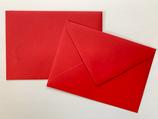 Briefumschlag DIN6 - rot