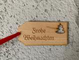 """Geschenkanhänger Ahorn klein - Frohe Weihnachten """"Christbaum"""""""