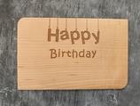 "Geburtstagskarte aus Echtholz ""Happy Birthday"" - 2"