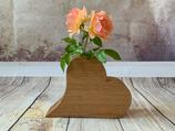 """Blumenvase """"Herz-Design 2"""" aus Eiche"""