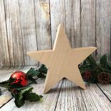Weihnachtsstern aus Massivholz - 20cm