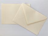 Briefumschlag DIN6 - Creme