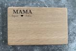 "Brotzeitbrett Eiche ""Mama / Papa + Namen Kinder"""