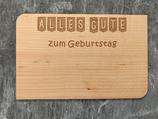 """Geburtstagskarte aus Echtholz """"Alles Gute zum Geburtstag"""" - 1"""