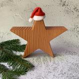 Weihnachtsstern aus Massivholz, 20cm - Douglasie #1