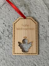 """Geschenkanhänger Ahorn - Frohe Weihnachten """"Engel"""""""