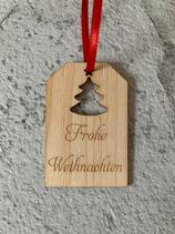 """Geschenkanhänger Ahorn - Frohe Weihnachten """"Christbaum 2"""""""