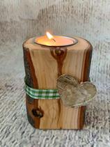 Teelichthalter rustikal aus Apfelbaumholz