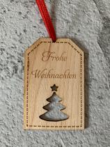 """Geschenkanhänger Ahorn - Frohe Weihnachten """"Christbaum"""""""