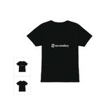 VネックTシャツ(ブラック)