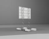 Bauschild mit Platte 3 x 2 m (quer/hoch)