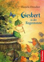 Daniela Drescher Giesbert in der Regentonne