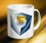 Tasse Logo Würfel