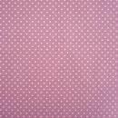 Baumwolle Punkte, 2 mm, altrosa
