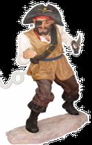 RÉPLICA DE PIRATA CON CUCHILLO Y OJO TAPADO | Réplicas de piratas