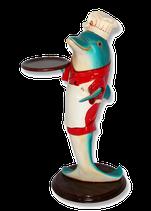 RÉPLICA DE DELFÍN CAMARERO | Figuras de delfines
