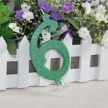 Candela Numero Glitter 6