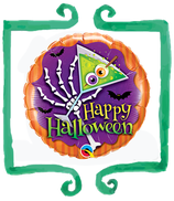 "Palloncino mylar Happy Halloween 18""/46cm Qualatex"