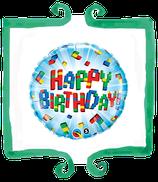 Palloncino mylar Happy Birthday lego - 18 in (45 cm)