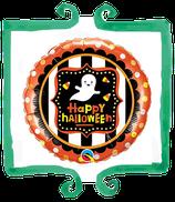"Palloncino mylar Happy Halloween con fantasmino 18""/46cm Qualatex"