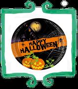 Piattini Happy Halloween 19 cm - 8 pezzi
