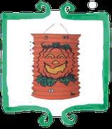 Lanterne di carta zucca arancione - 2,3 m