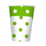 Bicchiere a pois Verde - 20 pezzi
