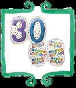 Palloncino mylar 30 anni sagomato