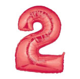 Palloncino Numero 2 grande - 100 cm