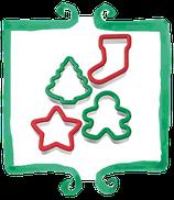 Set tagliapasta natalizi - 4 pezzi