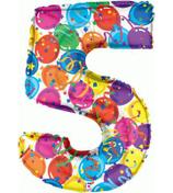 palloncino Numero 5 grande - 100 cm
