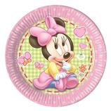 Piatti grandi Baby Minnie 23cm- 8 pezzi