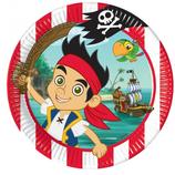 Piatti grandi Jake il pirata 23cm- 8 pezzi