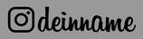 Dein Social-Media Sticker (Insta-Schrift)