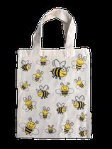 Baumwolltasche natur mit Bienenmotiv, 22x26 cm