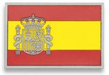 PARCHE TACTICO  goma ESPAÑA 7,4x3,4 cm aprox.