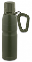 TERMO VERDE CON MOSQUETON Y ANILLA 500 ML  33959A