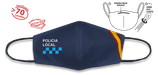 MASCARILLA AZUL BANDERA POLICIA LOCAL REUTILIZABLE 30684GR4302