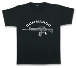 CAMISETA NEGRA COMMANDO M4
