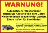 Warnschild für öffentliche bzw. frei zugängliche Rasenflächen.