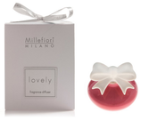 Millefiori Milano Lovely Fiocco Mini Diffusore, Ceramica, Viola IN SCATOLA BOMBONIERA